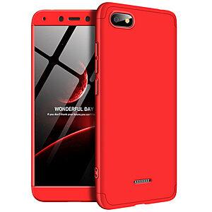 Θήκη GKK Full body Protection 360° από σκληρό πλαστικό για Xiaomi Redmi 6A κόκκινο