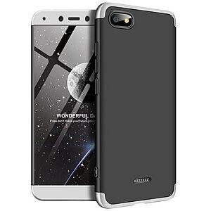 Θήκη GKK Full body Protection 360° από σκληρό πλαστικό για Xiaomi Redmi 6A μαύρο / ασημί