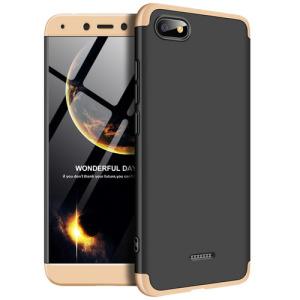 Θήκη GKK Full body Protection 360° από σκληρό πλαστικό για Xiaomi Redmi 6A μαύρο / χρυσό