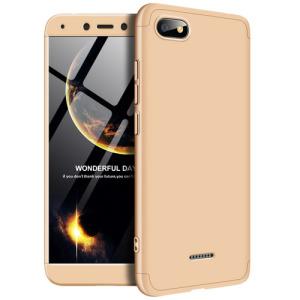 Θήκη GKK Full body Protection 360° από σκληρό πλαστικό για Xiaomi Redmi 6A χρυσό