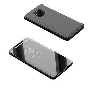 Θήκη HUAWEI Mate 20 Pro OEM Mirror Surface View Stand Case Cover Flip Window από σκληρό πλαστικό και δερματίνη μαύρο
