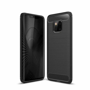 Θήκη HUAWEI Mate 20 Pro OEM Brushed TPU Carbon πλάτη μαύρο