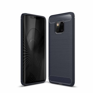 Θήκη HUAWEI Mate 20 Pro OEM Brushed TPU Carbon πλάτη μπλε