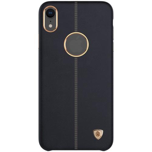 Θήκη iPhone XR NiLLkin Englon Series πλάτη δερματίνη μαύρο