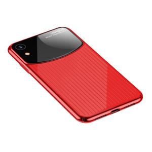 Θήκη iPhone XR USAMS MJ Series Mirror πλάτη από σκληρό πλαστικό κόκκινο