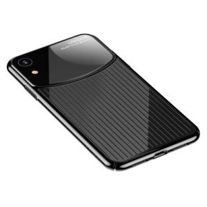 Θήκη iPhone XR USAMS MJ Series Mirror πλάτη από σκληρό πλαστικό μαύρο
