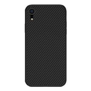 Θήκη iPhone XR NiLLkin Synthetic Fiber Series πλάτη από σκληρό πλαστικό μαύρο
