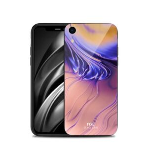 Θήκη iPhone XR NXE Streamer light Tempered Glass Series - Light colours πλάτη TPU