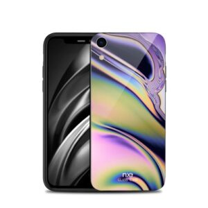 Θήκη iPhone XR NXE Streamer light Tempered Glass Series - Green Colours πλάτη TPU