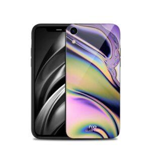 Θήκη iPhone XR NXE Streamer light Tempered Glass Series - Green Colours πλάτη TPU