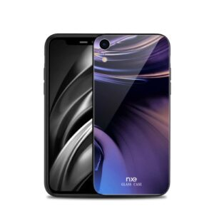 Θήκη iPhone XR NXE Streamer light Tempered Glass Series - Dark Colours πλάτη TPU