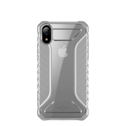 Θήκη iPhone XR BASEUS Michelin Series Sockproof Hybrid Silicone / Acrylic πλάτη TPU γκρι