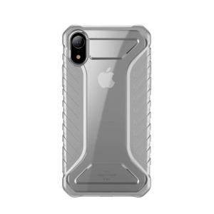 Θήκη iPhone XR BASEUS Michelin Series Sockproof Hybrid Silicone / Acrylic πλάτη TPU γκρι