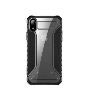 Θήκη iPhone XR BASEUS Michelin Series Sockproof Hybrid Silicone / Acrylic πλάτη TPU μαύρο