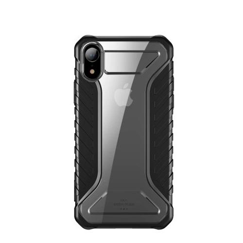 Θήκη iPhone XR BASEUS Michelin Series Sockproof Hybrid Silicone / Acrylic πλάτη TPU μαύρο