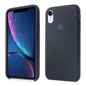 Θήκη iPhone XR OEM Soft Liquid Silicone πλάτη TPU μαύρο