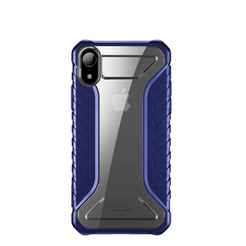 Θήκη iPhone XR BASEUS Michelin Series Sockproof Hybrid Silicone / Acrylic πλάτη TPU μπλε