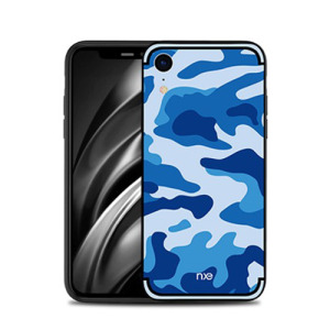 Θήκη iPhone XR NXE Camouflage Series πλάτη TPU μπλε