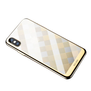 Θήκη iPhone XR SULADA Electroplating Soft Series πλάτη TPU χρυσό