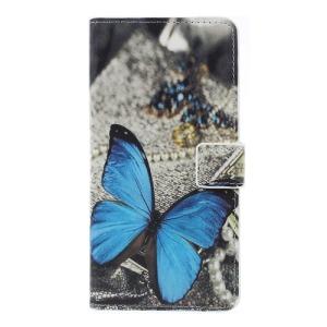 Θήκη Samsung Galaxy A7 (2018) OEM σχέδιο Blue Butterfly με βάση στήριξης