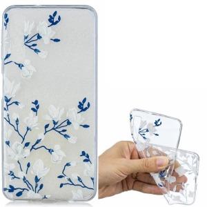 Θήκη Samsung Galaxy A7 (2018) OEM σχέδιο White flower πλάτη TPU