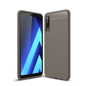 Θήκη Samsung Galaxy A7 (2018) OEM Brushed TPU Carbon πλάτη γκρι