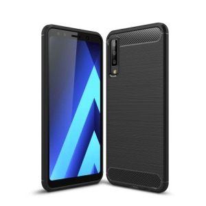 Θήκη Samsung Galaxy A7 (2018) OEM Brushed TPU Carbon πλάτη μαύρο