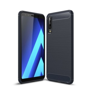 Θήκη Samsung Galaxy A7 (2018) OEM Brushed TPU Carbon πλάτη μπλε