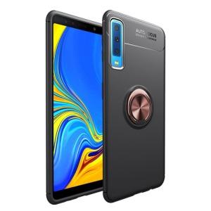 Θήκη SAMSUNG Galaxy A7 (2018) OEM Magnetic Ring Kickstand Πλάτη TPU ροζ χρυσό