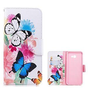 Θήκη Samsung Galaxy J4 Plus OEM Butterflies and Flowers με βάση στήριξης