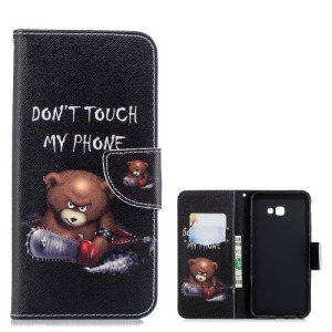 Θήκη Samsung Galaxy J4 Plus OEM Angry bear with chainsaw με βάση στήριξης