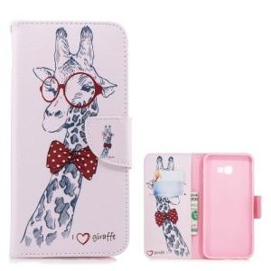 Θήκη Samsung Galaxy J4 Plus OEM Giraffe Wearing Glasses με βάση στήριξης