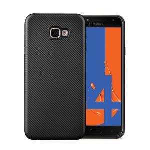 Θήκη Samsung Galaxy J4 Plus OEM Carbon Fiber Texture πλάτη TPU μαύρο