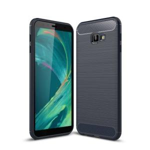 Θήκη Samsung Galaxy J4 Plus OEM Brushed TPU Carbon πλάτη μπλε