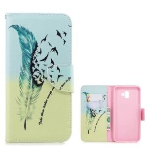 Θήκη Samsung Galaxy J6 Plus OEM Feather and birds με βάση στήριξης