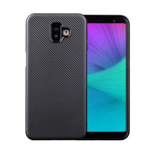 Θήκη Samsung Galaxy J6 Plus OEM Carbon Fiber Texture πλάτη TPU μαύρο