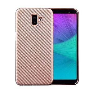 Θήκη Samsung Galaxy J6 Plus OEM Carbon Fiber Texture πλάτη TPU ροζ