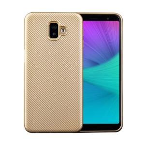 Θήκη Samsung Galaxy J6 Plus OEM Carbon Fiber Texture πλάτη TPU χρυσό