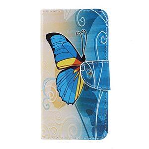 Θήκη SONY Xperia XZ3 OEM σχέδιο Blue Butterfly με βάση στήριξης