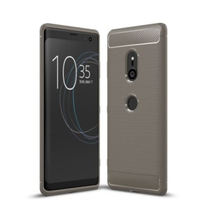 Θήκη SONY Xperia XZ3 OEM Brushed TPU Carbon πλάτη γκρι