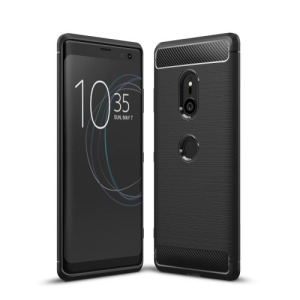 Θήκη SONY Xperia XZ3 OEM Brushed TPU Carbon πλάτη μαύρο
