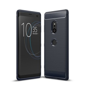 Θήκη SONY Xperia XZ3 OEM Brushed TPU Carbon πλάτη μπλε