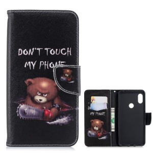 Θήκη XIAOMI Redmi Note 6 Pro OEM Angry bear with chainsaw με βάση στήριξης