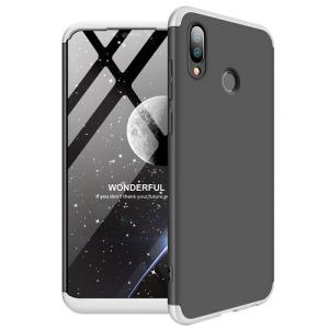 Θήκη Huawei Honor Play GKK Full body Protection 360° από σκληρό πλαστικό μαύρο / ασημί