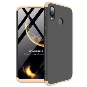 Θήκη Huawei Honor Play GKK Full body Protection 360° από σκληρό πλαστικό μαύρο / χρυσό
