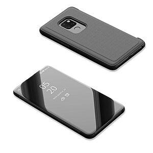 Θήκη Huawei Mate 20 OEM Mirror Surface View Stand Case Cover Flip Window δερματίνη μαύρο