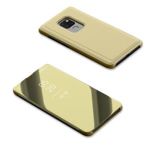 Θήκη Huawei Mate 20 OEM Mirror Surface View Stand Case Cover Flip Window δερματίνη χρυσό