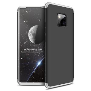 Θήκη Huawei Mate 20 Pro GKK Full body Protection 360° από σκληρό πλαστικό μαύρο / ασημί
