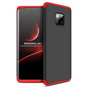 Θήκη Huawei Mate 20 Pro GKK Full body Protection 360° από σκληρό πλαστικό μαύρο / κόκκινο
