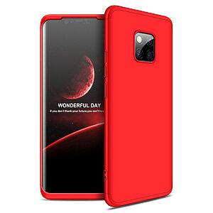 Θήκη Huawei Mate 20 Pro GKK Full body Protection 360° από σκληρό πλαστικό κόκκινο